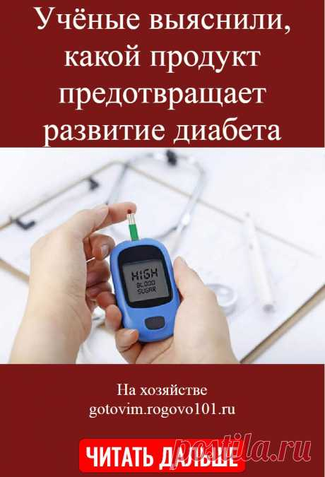 Учёные выяснили, какой продукт предотвращает развитие диабета