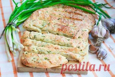 Луково-сырный хлеб - чудо блюдо!