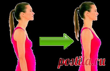 Как убрать живот и выпрямить спину? Минус 4 см за 5 минут в день!