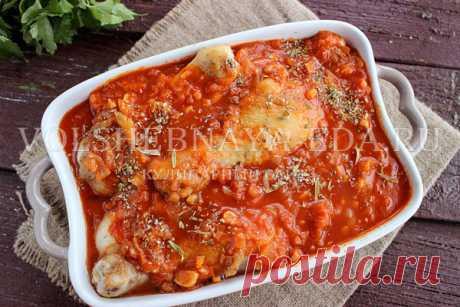 Курица в томатном соусе по-гречески | Волшебная Eда.ру