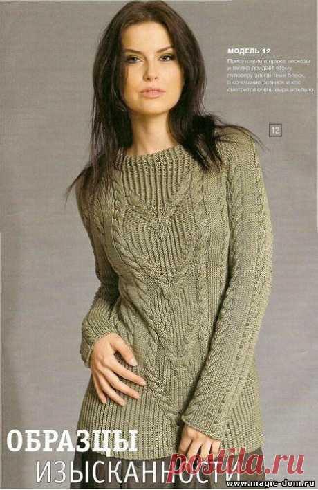 Не устареет то, что подчеркивает вашу женственность! Разные модели пуловеров, кофточек. Идеи, узоры в вязании спицами.   Ирина СНежная & Вязание   Яндекс Дзен