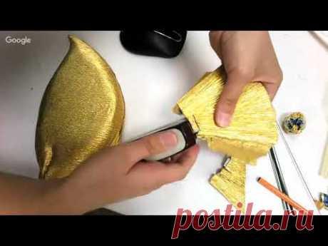 Часть2. Мастер-класс от Натальи Дроздовой: золотая рыбка. Свит дизайн.