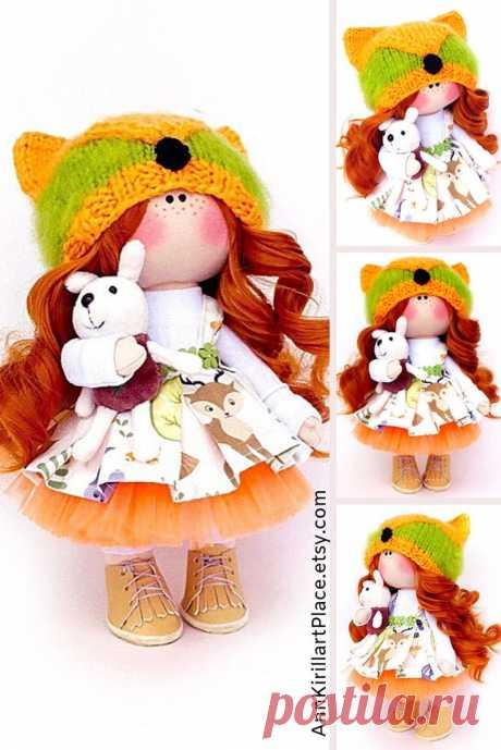 Fabric Art Doll Handmade Rag Doll Gift Baby Doll Home Decor | Etsy