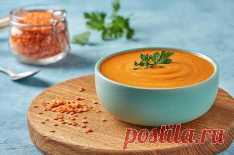 Острый морковно-чечевичный суп