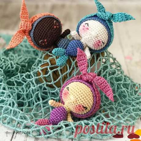 Маленькая русалка крючком | Амигуруми