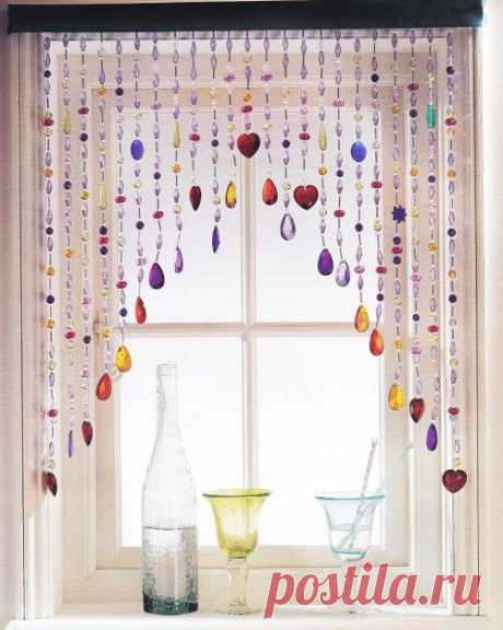 Мерцающий ламбрекен на вашем окне