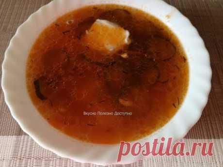 Очень вкусный рассольник с перловкой и солеными огурцами - рецепт из поварской книги