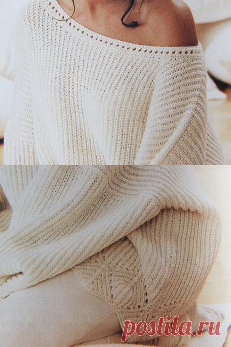 Пуловер оверсайз спицами | Вязание и творчество | Яндекс Дзен