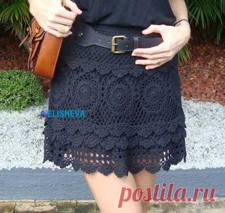 Ажурная юбка вязаная крючком: схема красивого узора | Блог elisheva.ru