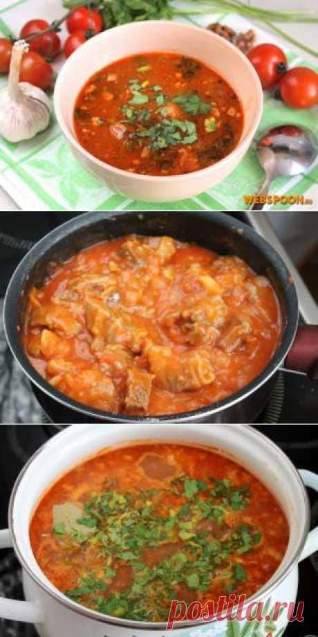 Традиционно суп харчо готовят из говядины. Харчо в переводе с грузинского — «говяжий суп». Грузины готовят харчо с использованием специальной заправки — тклапи, которое получают путём высушивания сливового пюре. Поскольку её найти сложно, часто для приготовления харчо используют пюре из свежих помидоров или кислых слив ткемали.