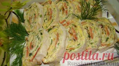 La receta: Lavash con el pez en RussianFood.com