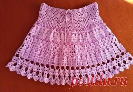 Легкая вязаная юбочка на лето из категории Интересные идеи – Вязаные идеи, идеи для вязания