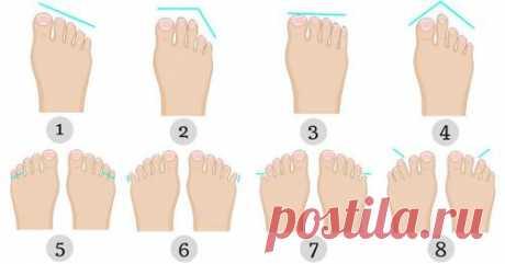 Что форма ног говорит о вашем характере - 8 признаков