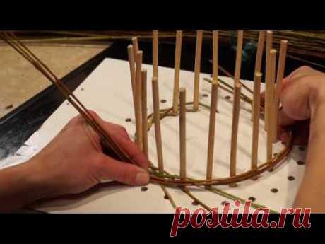 Русская ива - Урок 2. Плетение из ивы. Веревочка в 3 прута. - YouTube
