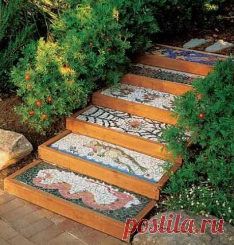 Замечательная лестница-мозаика - супер!