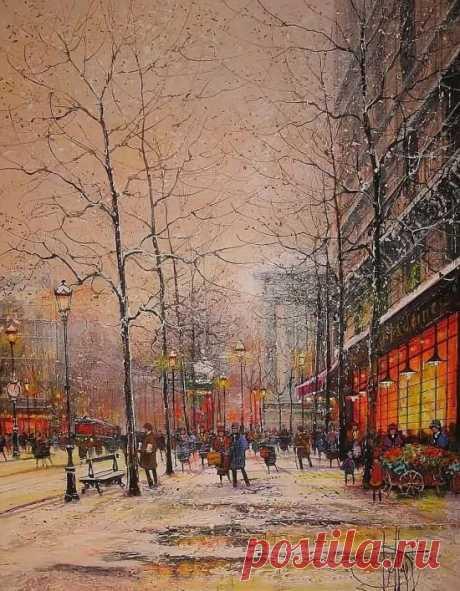 Художник Guy Dessapt. Свидание в Париже .