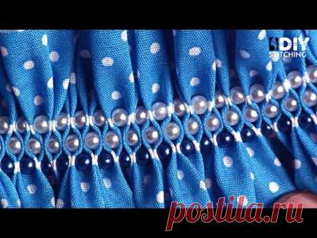 Easy DIY Ideas You NEED To Try - Beaded Smocking | DIY Stitching