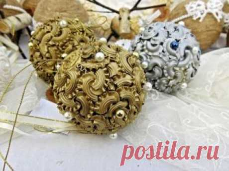 Креативный декор и поделки из макарон