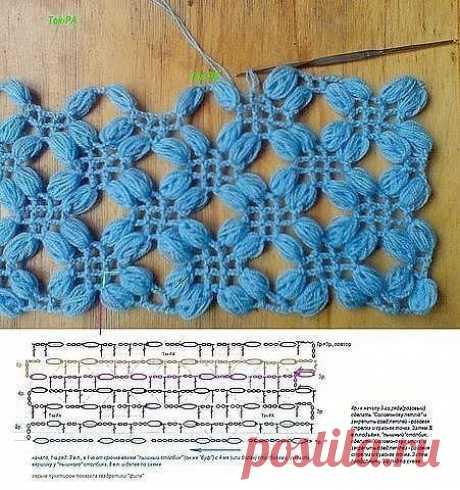 Красивая шаль создается благодаря пышному узору!