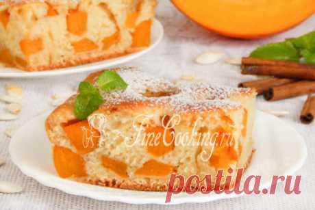 Заливной пирог с тыквой - рецепт с фото