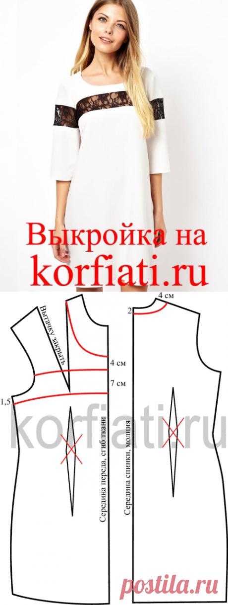 Выкройка платья прямого с бретелями фото 765