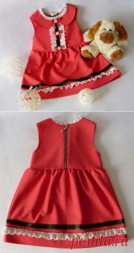Шьем платье из трикотажа для девочки
