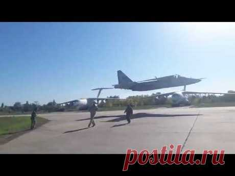Ukrainian fighter jet extra low pass - YouTube