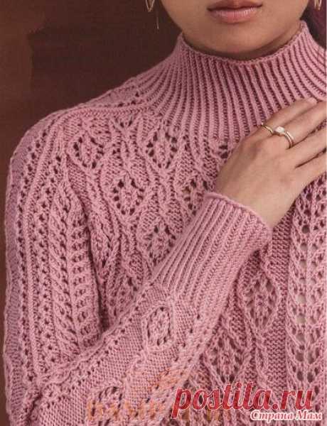 Ажурный пуловер в винтажном стиле - Вязание - Страна Мам