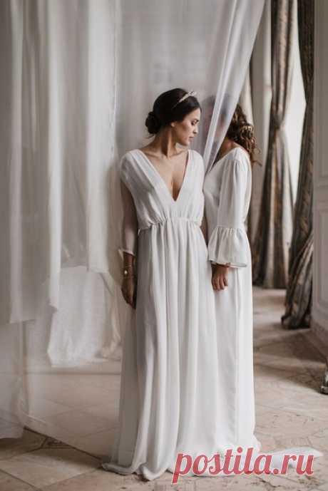 Свадебные платья в стиле минимализм 💕