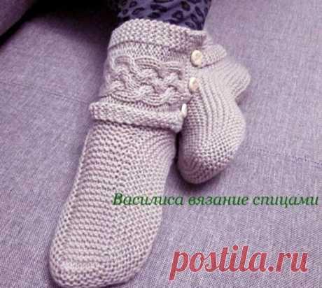 Необычные носки спицами Необычные носки спицами