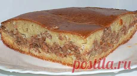 Моя Дача. Пирог с мясом «Легче не бывает»  Его приготовление займет всего минут 10, а результат получите превосходный. Пирог с мясом легче не бывает выручит в любой ситуации.  Показать полностью...