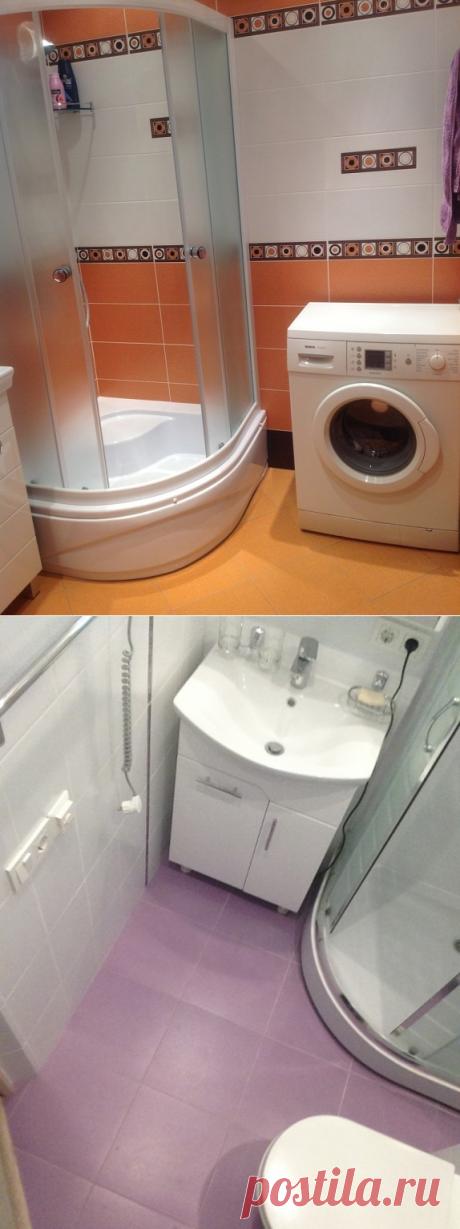 Дизайн ванной комнаты в хрущевке со стиральной машиной и с душевым уголком (42фото). | Дизайн ванной комнаты, интерьер, ремонт, фото.