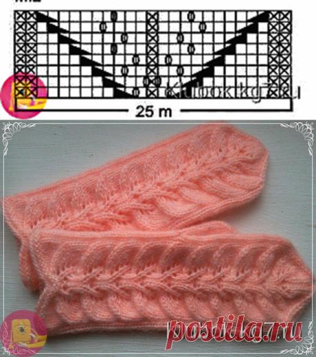 Прекрасный узор для рукавичек и не только — Сделай сам, идеи для творчества - DIY Ideas