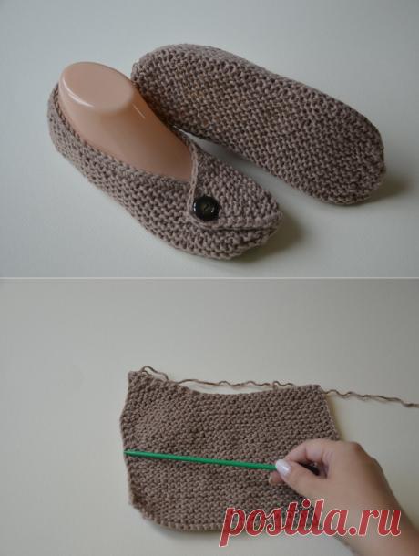 Очень простые следки на двух спицах без шва на подошве | Модное Хобби | Яндекс Дзен
