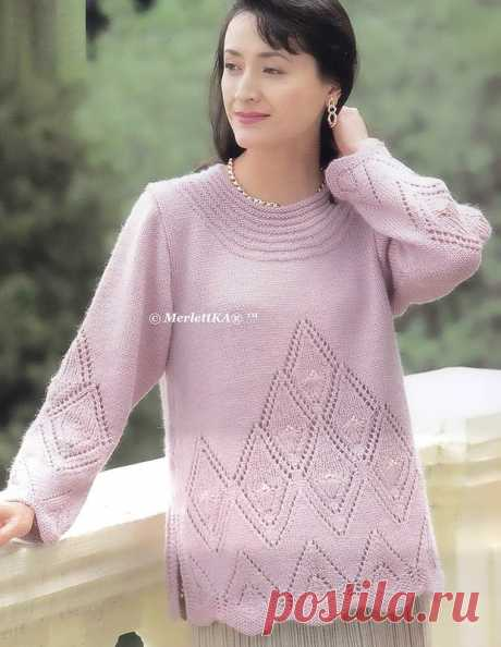 Вязание спицами - два пуловера для теплой погоды