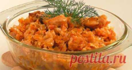 Тушеная капуста с колбасой | Милочка