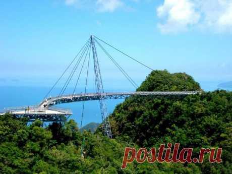 Мост Лангкави под облаками / Туристический спутник