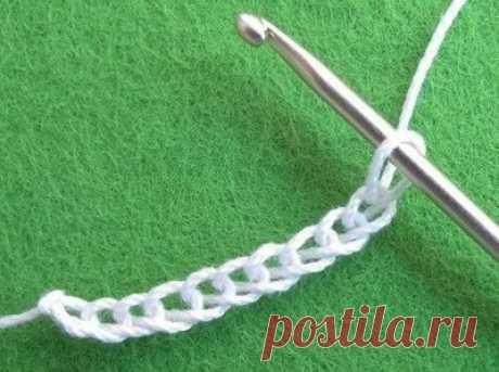 Тунисское вязание с бисером