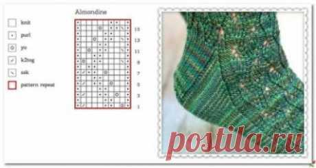Схема узора для носочков
