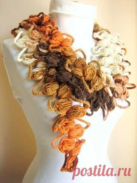 Объемные шарфы крючком   Мой Милый Дом — идеи рукоделия, вязание, декорирование интерьеров