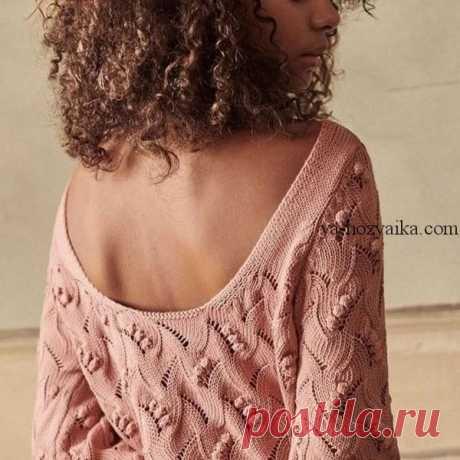 Стильный вязаный свитер женский 2020. Стильные свитера для девушек со схемами.