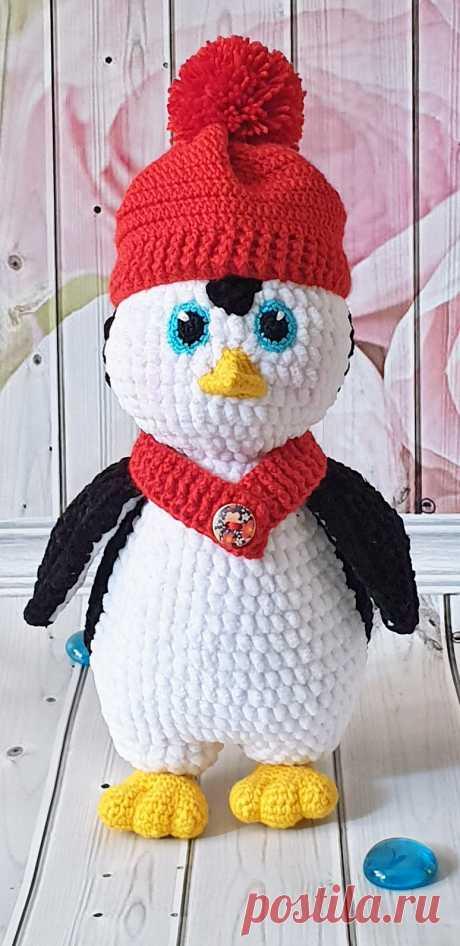 PDF Пингвин Терри крючком. FREE crochet pattern; Аmigurumi doll patterns. Амигуруми схемы и описания на русском. Вязаные игрушки и поделки своими руками #amimore - плюшевый пингвин, пингвинята, пингвинчик из плюшевой пряжи, пингвинёнок.