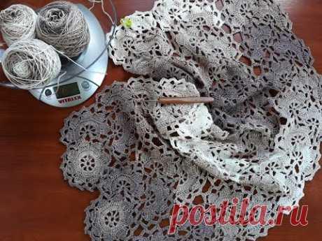 Платье (сарафан) крючком. Ленточное кружево. Часть 5. 1/4 цветка. Ответы на вопросы.