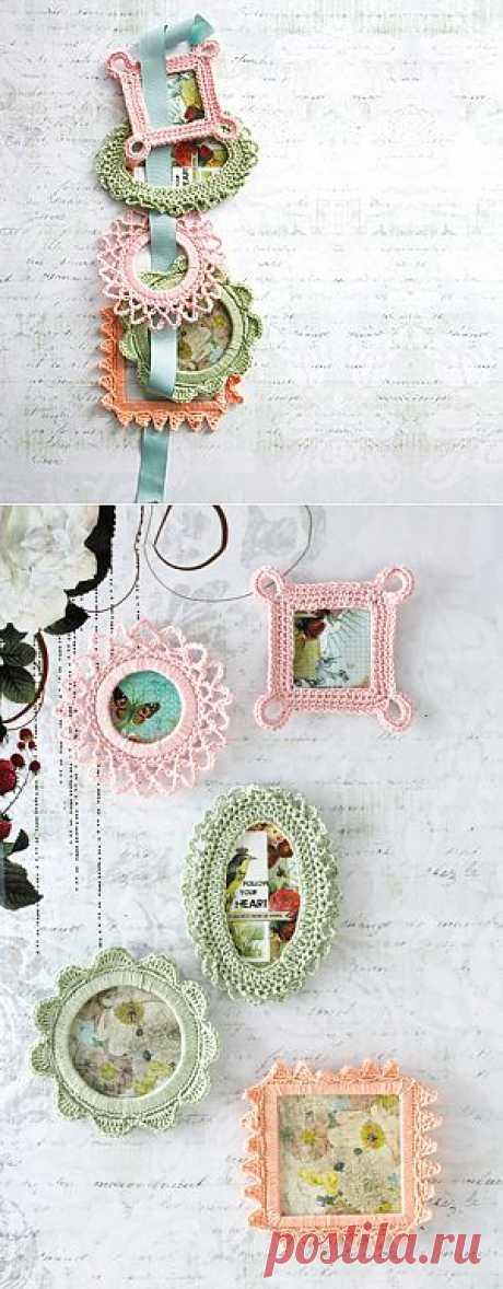 Crocheted frames рамки крючком.