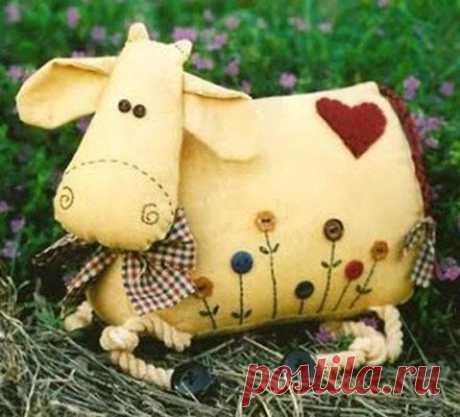 Корова, мягкие игрушки своими руками / Тильда, мягкие игрушки своими руками, выкройки / КлуКлу. Рукоделие - бисероплетение, квиллинг, вышивка крестом, вязание
