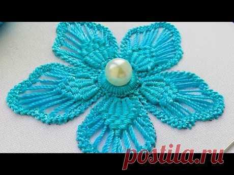 Макраме  вышивка * Румынское кружево * автор дизайна Malina GM - YouTube