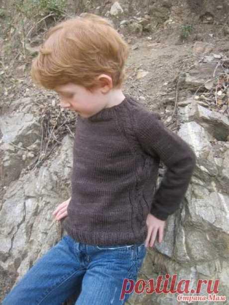Джемпер Soledad для мальчика спицами