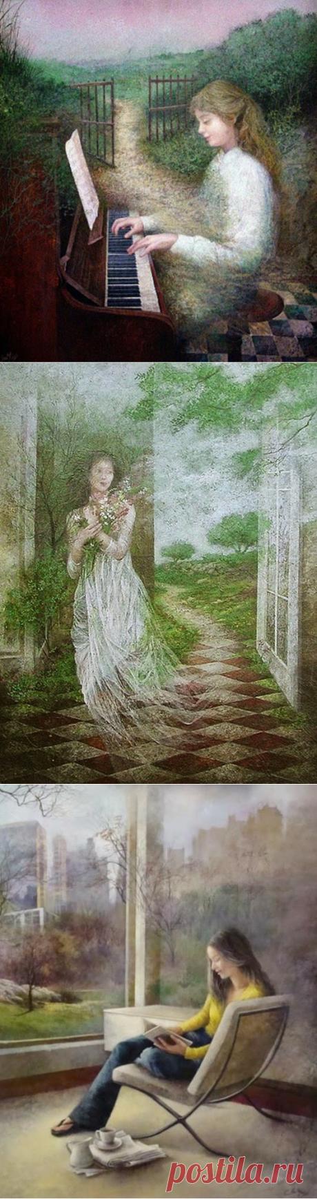 Нежная живопись художницы Ана Муньос / Ana Muñoz.