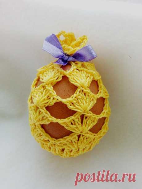 Вяжем ажурный мешочек для пасхального яйца – Ярмарка Мастеров