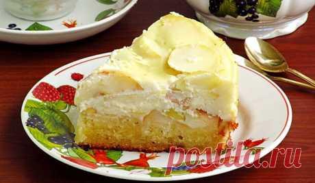Яблочный пирог с творожной заливкой! Так вкусно, что невозможно оторваться!
